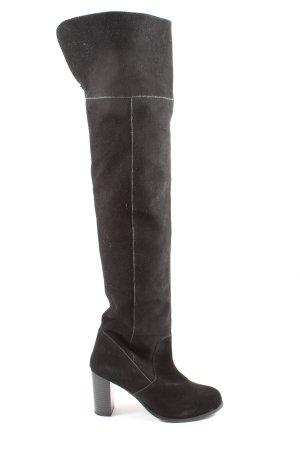 H&M Wysokie buty na obcasie czarny W stylu biznesowym