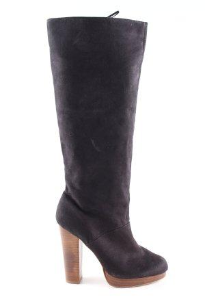 H&M Laarzen met hoge hakken lichtgrijs zakelijke stijl