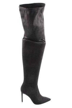 H&M High Heel Stiefel schwarz Casual-Look