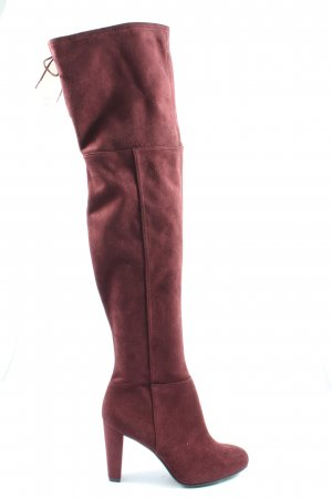 H&M High Heel Stiefel rot Casual-Look