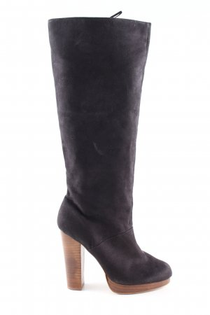 H&M High Heel Stiefel schwarz Business-Look