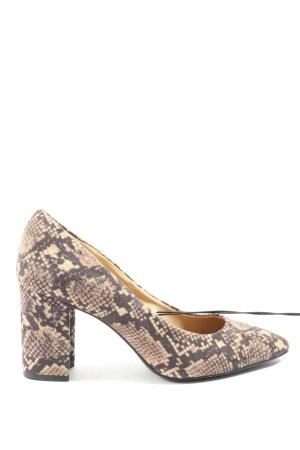 H&M High Heels braun-creme Animalmuster Casual-Look