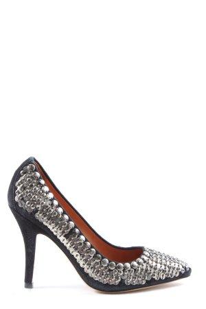 H&M High Heels schwarz-silberfarben Elegant