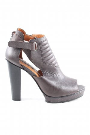 H&M High Heels braun Steppmuster Elegant