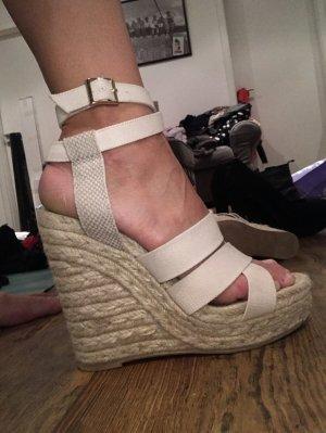 H&M High Heels Keilabsatz Größe 38 Farbe beige