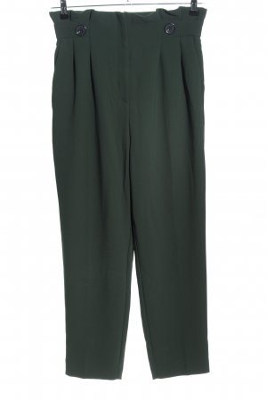 H&M High-Waist Hose grün Business-Look