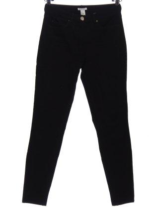 H&M Pantalone a vita alta nero stile casual