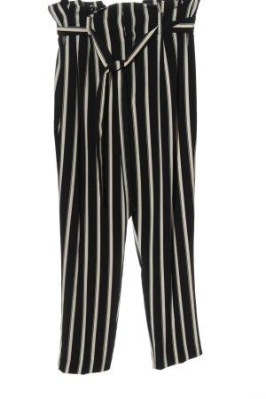 H&M High-Waist Hose schwarz-wollweiß Streifenmuster Casual-Look