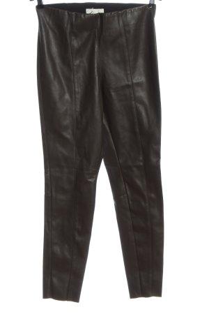 H&M Spodnie z wysokim stanem brązowy Ekstrawagancki styl