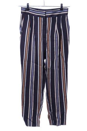 H&M High-Waist Hose blau-braun Allover-Druck Casual-Look