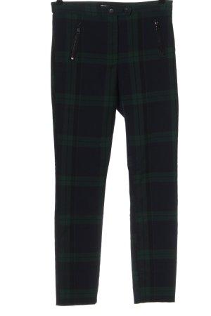 H&M High-Waist Hose blau-grün Allover-Druck Casual-Look
