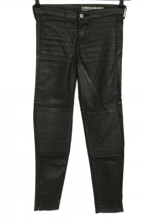 H&M High-Waist Hose schwarz Casual-Look