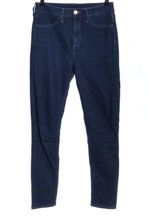 H&M Pantalon taille haute bleu style décontracté