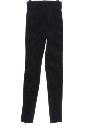H&M High-Waist Hose schwarz-weiß Allover-Druck Business-Look