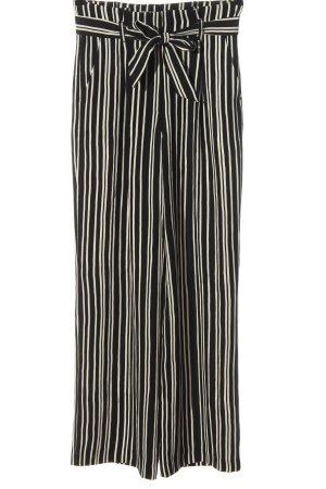H&M High-Waist Hose schwarz-weiß Allover-Druck Casual-Look