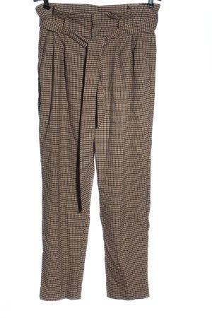 H&M High-Waist Hose Allover-Druck Business-Look