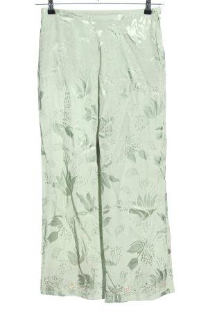 H&M High-Waist Hose grün Allover-Druck Casual-Look