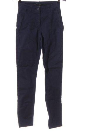 H&M Pantalón de cintura alta azul look casual