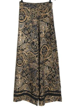 H&M High Waist Trousers black-light orange allover print elegant