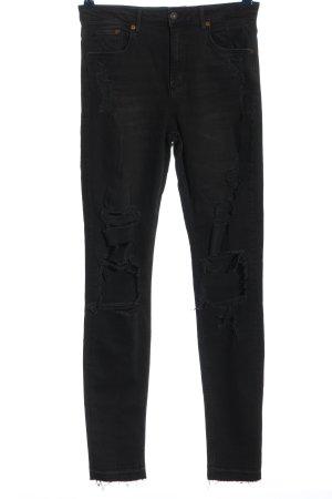 H&M High Waist Trousers black casual look