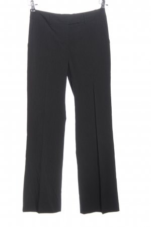 H&M Pantalone a vita alta nero motivo a righe stile professionale