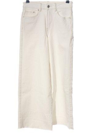 H&M High Waist Jeans wollweiß Casual-Look