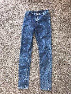 H&M Divided Hoge taille jeans lichtblauw-blauw