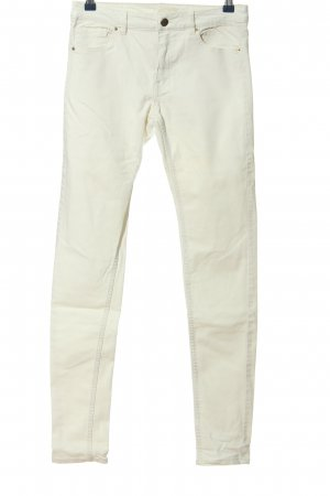 H&M High Waist Jeans weiß Casual-Look