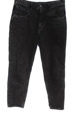H&M Jeansy z wysokim stanem czarny W stylu casual