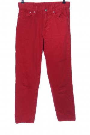 H&M Hoge taille jeans rood casual uitstraling