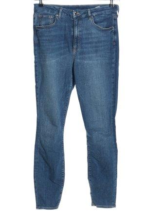 H&M Jeans taille haute bleu style décontracté