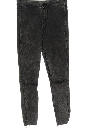 H&M High Waist Jeans hellgrau Casual-Look