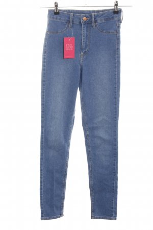 H&M Hoge taille jeans blauw casual uitstraling