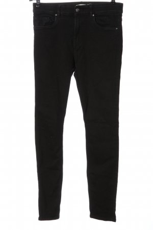 H&M High Waist Jeans schwarz Casual-Look