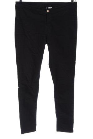 H&M High Waist Jeans schwarz meliert Casual-Look