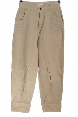 H&M High Waist Jeans nude Streifenmuster Casual-Look