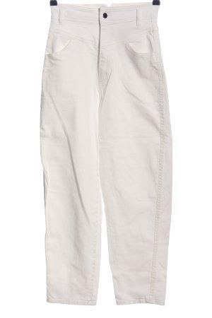 H&M High Waist Jeans weiß Casual-Look