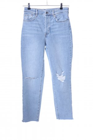 H&M High Waist Jeans blau Casual-Look