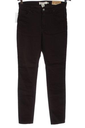 H&M High Waist Jeans braun Casual-Look