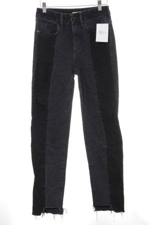 H&M High Waist Jeans dunkelgrau-schwarz Casual-Look