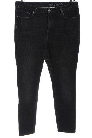 H&M High Waist Jeans schwarz Elegant