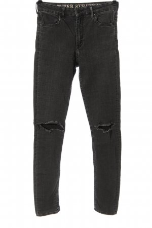 H&M High Waist Jeans hellgrau Casual-Look