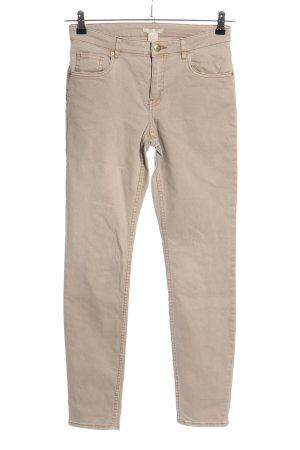 H&M High Waist Jeans braun Business-Look
