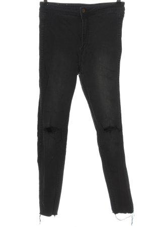 H&M High Waist Jeans schwarz Casual-Look