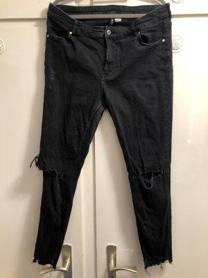 H&M High-Waist  Jeans schwarz