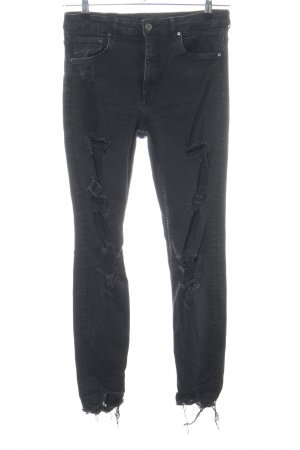 H&M Hoge taille jeans zwart casual uitstraling