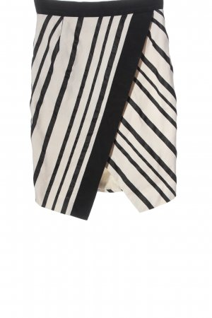 H&M High Waist Rock weiß-schwarz Allover-Druck Business-Look