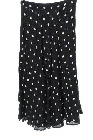 H&M High Waist Rock schwarz-weiß Punktemuster Casual-Look