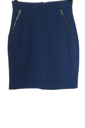 H&M High Waist Rock blau Business-Look