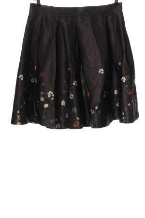 H&M High Waist Rock braun Blumenmuster Casual-Look
